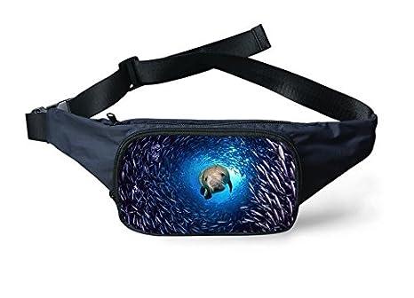 GG 3D los bolsillos carteras casual estudiante de fauna bentónica poliester , 6: Amazon.es: Deportes y aire libre