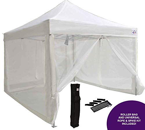 Impact Canopy 10' x 10' Pop-Up Canopy Tent, Mesh Sidewalls, Screen Room, Steel Frame, Gazebo Enclosure, -