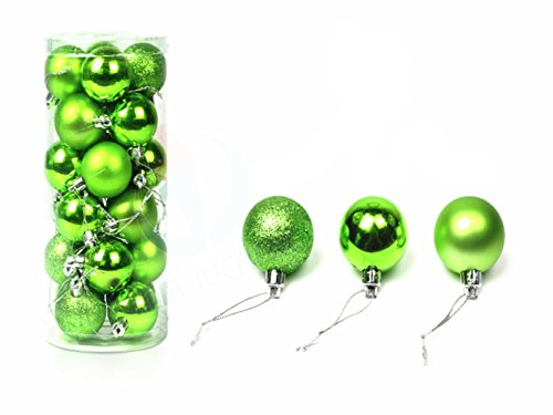 Sportedword Shatterproof Ball Ornaments Christmas Tree Decoration, Tree Decoration Balls Set Indoor Outdoor for Home Holiday Wedding Party Green (green30mm) -