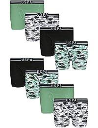 Boys' Cotton Underwear Boxer Briefs (8 Pack)