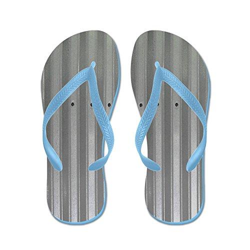 Cafepress Tin Industrial Metal Douchegordijn - Flip Flops, Grappige String Sandalen, Strand Sandalen Caribbean Blue