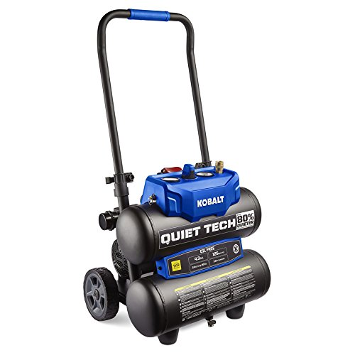Kobalt Quiet Tech 4.3-Gallon Portable Electric Twin Stack Quiet Air Compressor For Sale