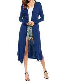 Meaneor Women's Pocket Long Sleeve Basic Soft Knit Cardigan Sweater