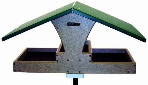 (Birds Choice Double Decker Hopper with Platform with Green Roof)