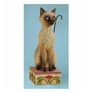 Enesco Jim Shore Heartwood Creek from Siamese Cat Figurine 7.25 in