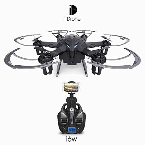 Dreamyth New iDrone i6W Wifi FPV Live HD Camera RC Flying Quadcopter 2.4G 6-Axis Gyro (Black) by Dreamyth