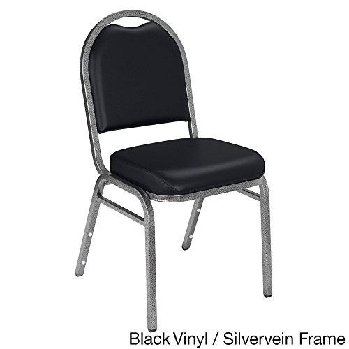 National Public Seating Dome-back Padded Stack Vinyl Chairs (Case of 40) Black Vinyl by National Public Seating