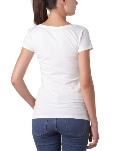 Wrangler - Camiseta con estampado para mujer Blanco crudo (Off-white)