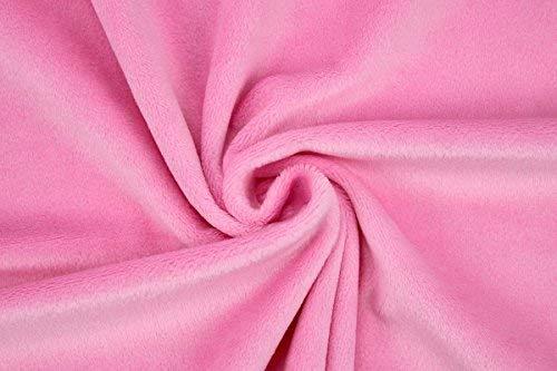 kullaloo 62316 Tela de felpa muy suave blanco lana 100 x 75 cm