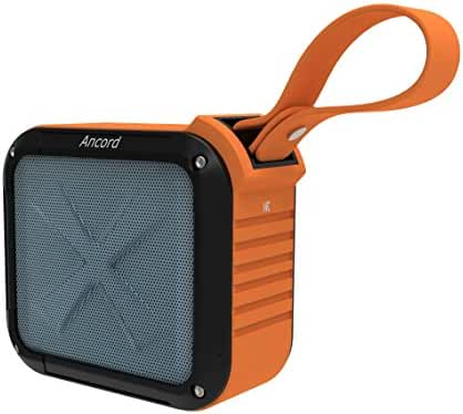Ancord Portable Outdoor Bluetooth Speaker with FM Radio - Waterproof & Rechargeable