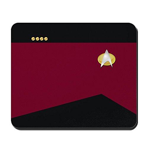 CafePress - Star Trek: TNG Uniform - Captain - Non-slip Rubber Mousepad, Gaming Mouse (Buy Starfleet Uniform)