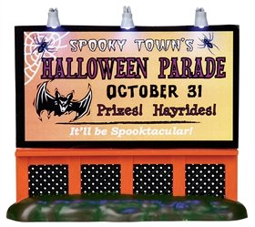 (2010 Spooky Town Halloween Parade Lighted Sign Accessory)