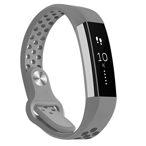 Kutop Bands Compatible for Fitbit Alta HR, Fitbit Alta, Soft Silica Gel Sports Fitness Watchband Adjustable Replacement Strap Band Compatible for Fitbit Alta HR/Fitbit Alta Wrist Band ()