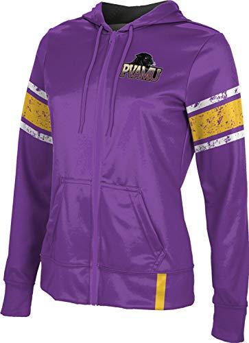 Prairie View A&M University Women's Zipper Hoodie, School Spirit Sweatshirt (End Zone) FF54 Purple and Gold