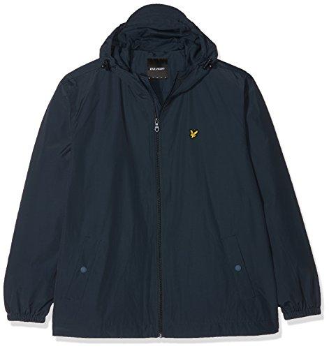 Lyle Hooded amp; Scott Through navy Jacket Uomo Cappotto Zip Jacket Plus Size Blu qSYRdxwrq