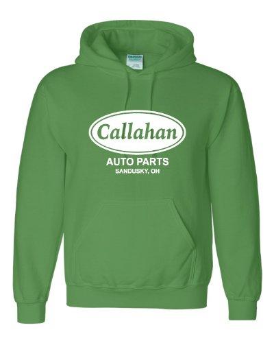 X-Large Irish Green Adult Callahan Auto Parts Sandusky Ohio Tommy Boy Sweatshirt Hoodie
