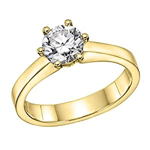 GIA Certified 14k white-gold Round Cut Diamond Engagement Ring (1.55 cttw, D Color, VVS2 Clarity)