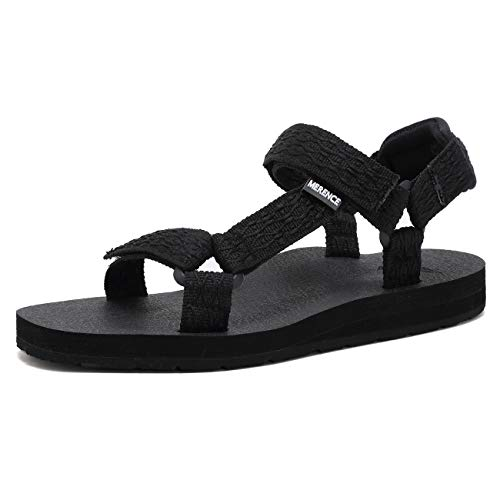 EQUICK Women's Arch Support Athletic Sandal Yoga Mat Insole Beach Shoes Outdoor Sports and Indoor-U219SLX022-N-black-38