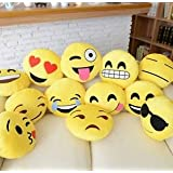 "12"" Emoji Pillow (set of 10) Assorted Emojis"