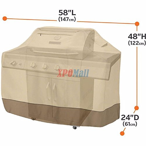 """BBQ Grill Cover 58""""L x 48""""H Gas Barbecue Heavy Duty Waterproof Outdoor for Weber"""