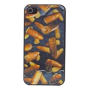Caja fresca trasera protectora estilo de viñeta 3d para el iphone 4/4s