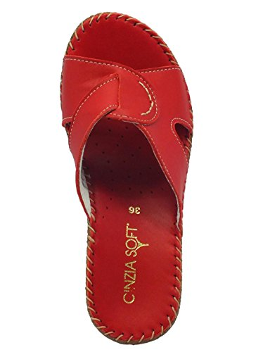 Cinzia Soft IU880914L Fiore Rosso - Sandalias de vestir de Piel para mujer Rojo rojo Rojo