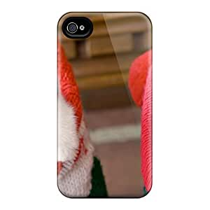 6Plus Premium Protective Hard Case For Iphone 4/4s- Nice Design - Cats In Socks