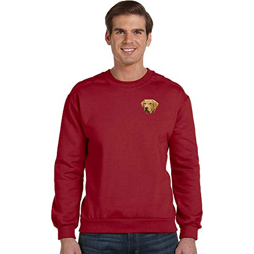 Cherrybrook Breed Embroidered Anvil Mens Crew Sweatshirt - Large - Independence Red - Chesapeake Bay Retriever
