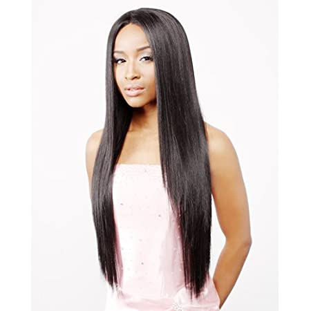 Amazon.com : R&B COLLECTION 100% Human Hair Blended Lace Fornt Wig - HL-OMAHA (# 1 - Jet Black) : Beauty