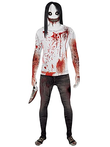 Jeff The Killer Costumes For Boys - Jeff the Killer Adult Morphsuit Costume