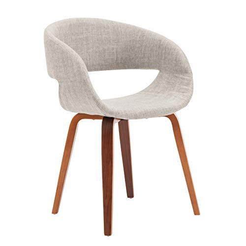 Porthos Home s Mid-century Style Dining Chair With Fabric upholstery, One Size, Cream