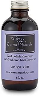 product image for Karma Organic Natural nail polish remover Soybean Lavender Oil Based Formula non toxic vegan cruelty free moisturize and Nourish Nails 4 fl. oz.