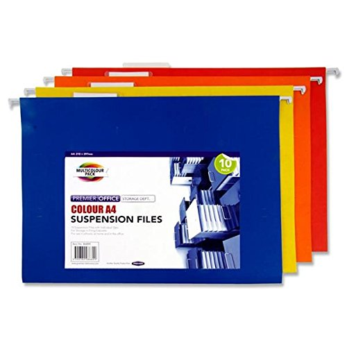 Premier Stationery A4 Coloured Suspension File
