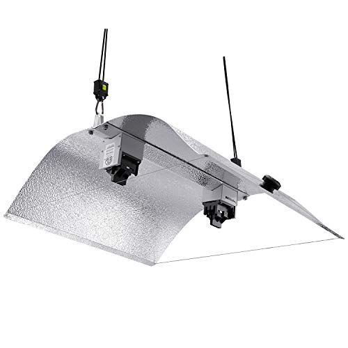 (VIVOSUN Double Ended Adjustable Wing Reflector Fixture for DE HPS/MH Grow Light Bulb, ETL Listed, High-Reflectivity Vega Aluminum Hood - Easy to Set up(Enhanced Version))