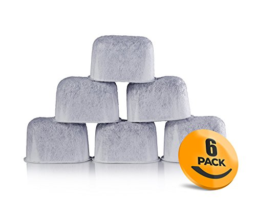 - 6-Pack of Breville BWF100 Compatible Water Filters (Activated Charcoal)
