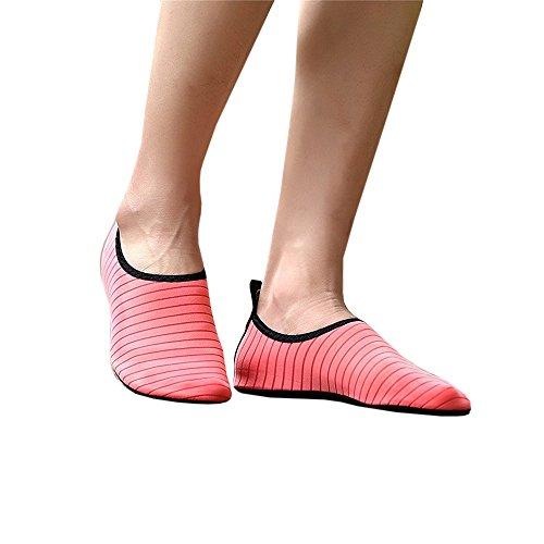 Scarpe Da Acqua Allaperto Chellysunny Estate Unisex Quick Dry Aqua Calze Yoga Scarpe A Piedi Nudi Rosa