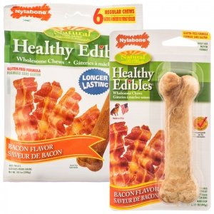 Nylabone Healthy Edibles Longer Lasting Bacon Regular