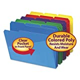 upright archival storage - Slash Pocket Poly File Folders, 1/3 Cut Top Tab, Letter, Assorted, 30/Box, Sold as 30 Each