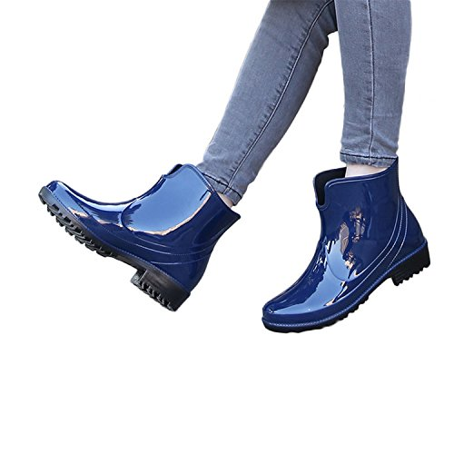Feicuan Women Short Rain Boots Snow Shoes Waterproof Non-slip Wear-resistant Blue 28uDhK