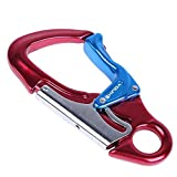 HWPYSLV Outdoor Rock Climbing Main Lock, Carabiner Rappelling Equipment, Flying radda Extended air Work Safety Hook,2,A
