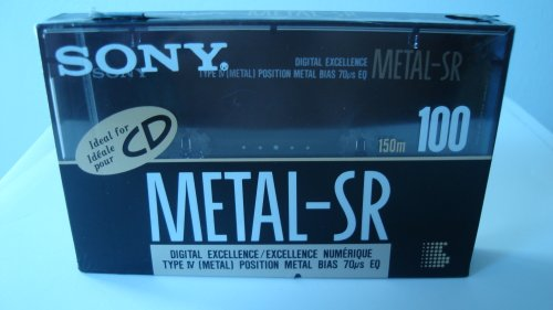 Sony Metal-SR 100 Blank Audio Cassette Type IV Metal 70us EQ