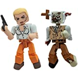 Diamond Select Toys Walking Dead Minimates Series 2: Andrea and Stabbed Zombie, 2-Pack