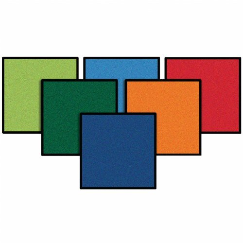"""Carpets for Kids 9242 Kits on The Go 16"""" Squares (Set of 24)"""