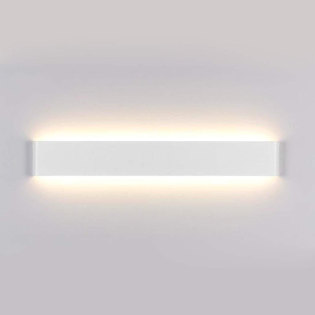 Badezimmerspiegel Beleuchtung LED-Spiegel Scheinwerfer, Aluminium Wandleuchte Nachttischlampe Wohnzimmer Schlafzimmer Gang Badezimmer Spiegel vorne Hell und modern (Farbe  Warmweiß 20W 61cm-A)