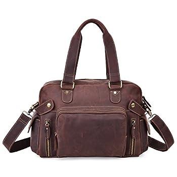 Image of ALTOSY Men Vintage Leather Briefcase Laptop Messenger Shoulder Travel Bag (Brown) Luggage