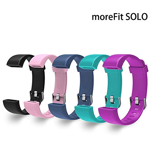 moreFit Replacement Bands Straps for Fitness Tracker Solo (5 Colors)