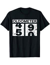 Oldometer 50 Shirt 50th Birthday Gift Men Women Funny Shirts