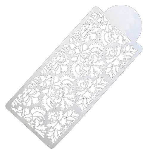 Baking Tool Side Decor Mould Damask Lace Flower Border Fondant Cake Stencil,White
