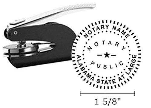 Alabama Stamps - Alabama Notary Seal Embosser, Pocket/Hand Model, 1-5/8
