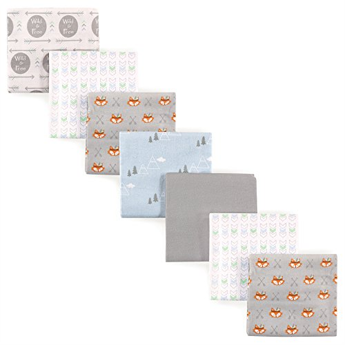 (Luvable Friends Flannel Receiving Blanket, 7 Pack, Wild and)